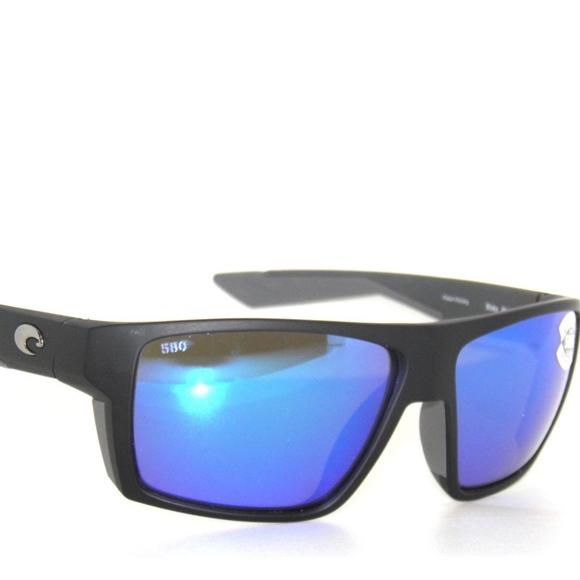 d5f1b28f5eca6 Costa Del Mar Bloke Black Blue Mirror Sunglasses
